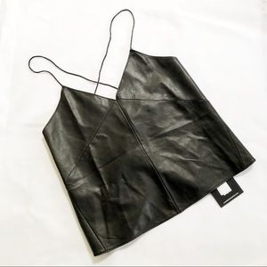 Anthropologie Lamarque leather camisole